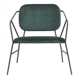 Fauteuil lounge velours vert fonce house doctor klever