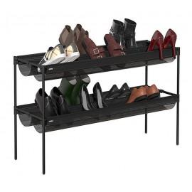 Étagère à chaussures 2 niveaux noir Umbra Sling pour 16 paires
