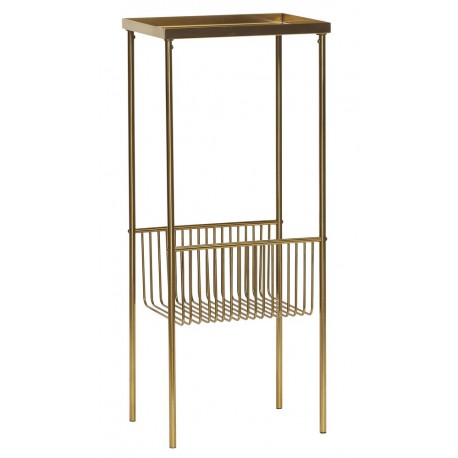 console carree laiton metal dore hubsch