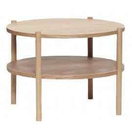 Table basse ronde bois clair 2 plateaux Hübsch