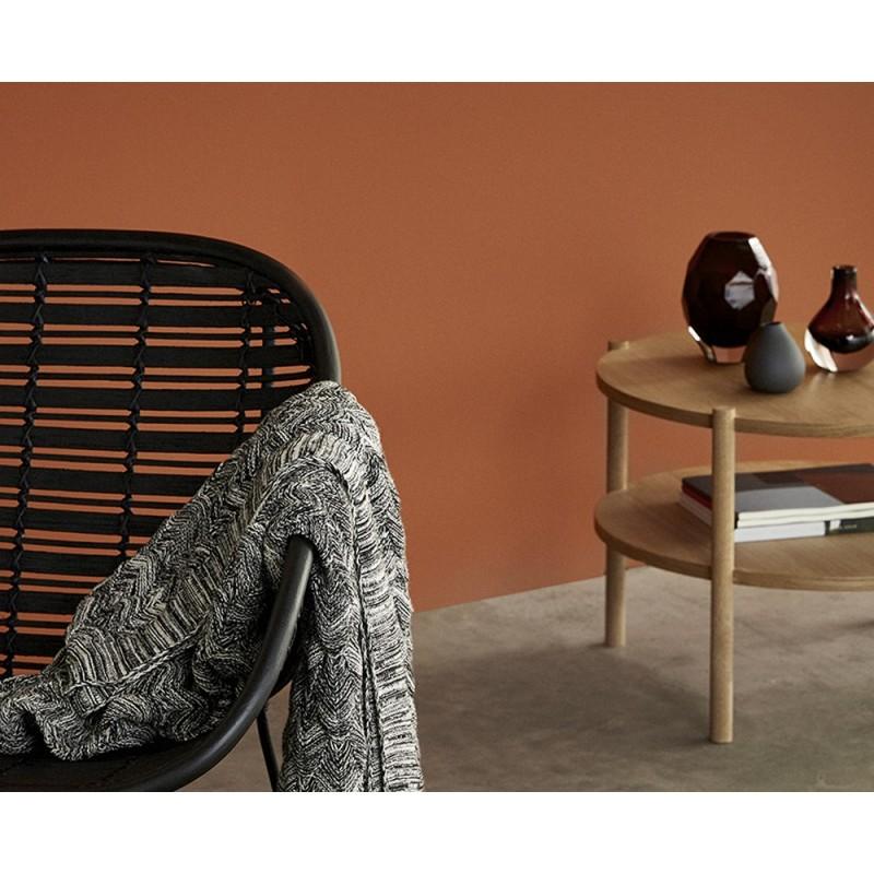 Hubsch table basse ronde bois naturel 2 plateaux 880619 - Table ronde bois clair ...