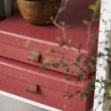 Set de 2 boites de rangement rouge fonce house doctor ray