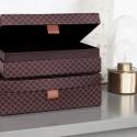 Set de 2 boites de rangement decoratives house doctor arches prune