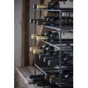 Porte bouteilles vintage metal noir 30 bouteilles ib laursen brooklyn