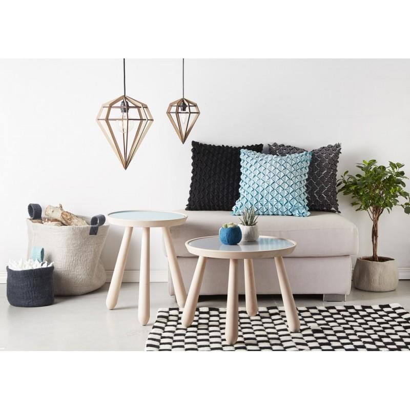 lampe suspension diamant bois noir aveva design raw m. Black Bedroom Furniture Sets. Home Design Ideas