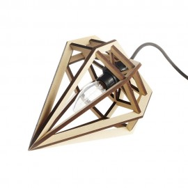 Petite lampe suspension bois aveva design raw
