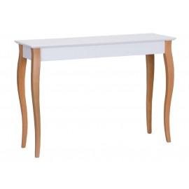Table console classique blanche pieds bois ragaba