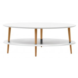 table basse deux plateaux blanche bois ragaba ovo