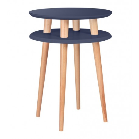 Table d'appoint ronde graphite bois Ragaba Ufo