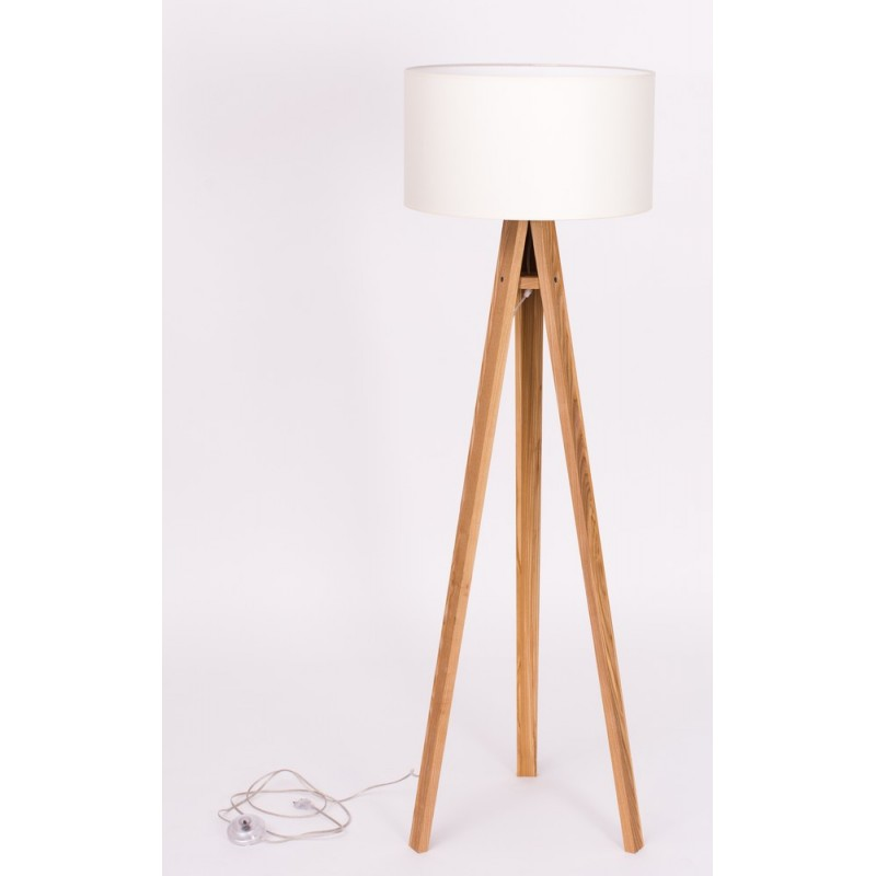 lampadaire trepied bois massif abat jour blanc ragaba wanda ragabalp010. Black Bedroom Furniture Sets. Home Design Ideas