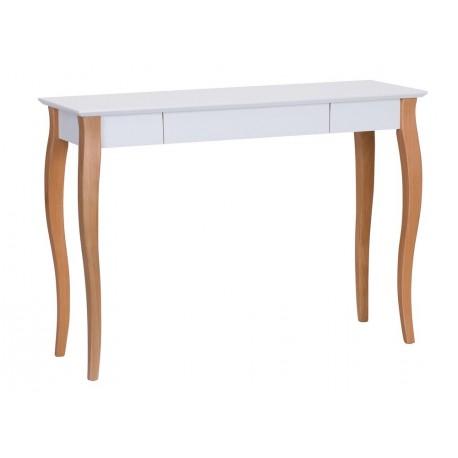 table de bureau classique blanc bois avec tiroir ragaba lillo