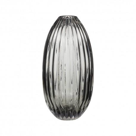 Vase verre fume gris hubsch