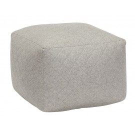 Pouf carré gris laine Hübsch