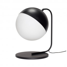 Lampe à poser design boule noir blanc design rétro Hübsch 30 cm