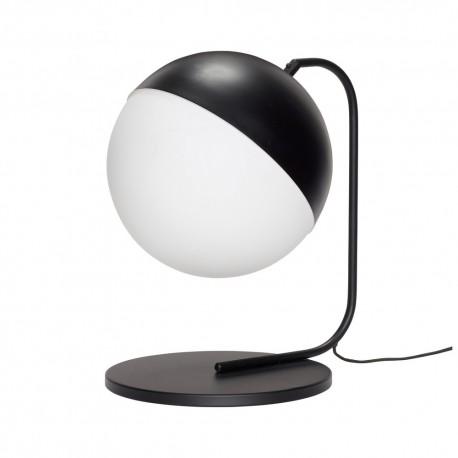 Lampe à poser design noir et blanc design rétro Hübsch
