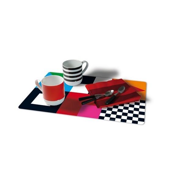 Set de table plastique design remember signale - Set de table plastique ...