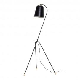 Lampadaire métal noir design scandinave Hübsch