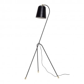 Lampadaire metal noir design scandinave hubsch