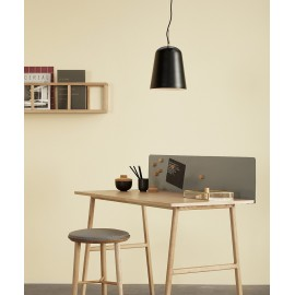 Suspension cloche design scandinave metal noir hubsch