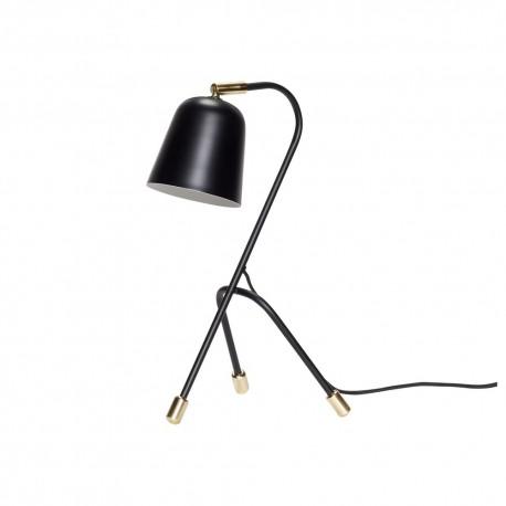 Lampe de bureau trepied metal noir design scandinave hubsch