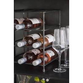 Casier à 9 bouteilles métal vintage IB Laursen
