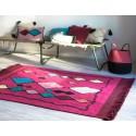 lorena canals assa tapis lavable ethnique rose fuchsia 120 x 185 cm