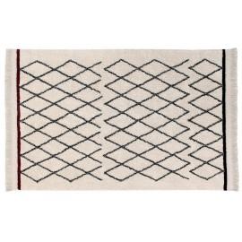 Tapis berbere noir blanc lavable Lorena Canals Bereber Crisscross 120 x 170 cm