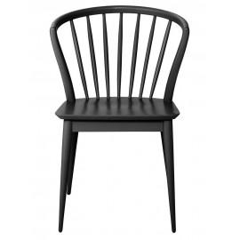 Chaise noire bois de hevea house doctor laura