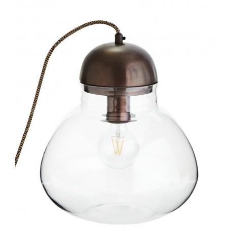 Lampe a poser en verre et bronze antique madam stoltz