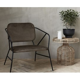 Fauteuil velours marron house doctor klever