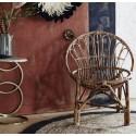 Fauteuil vintage en bambou Madam Stoltz