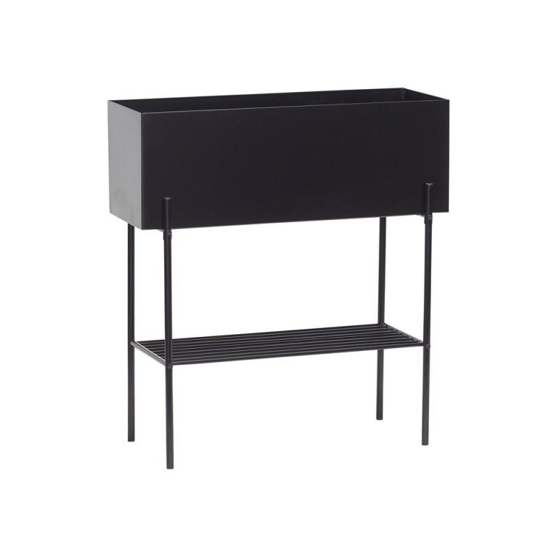 meuble design support porte plantes metal noir hubsch 020601. Black Bedroom Furniture Sets. Home Design Ideas