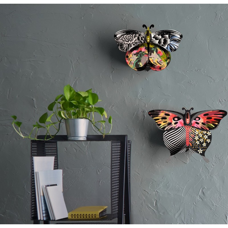 decoration murale papillon miroir miho unexpected things elisabetta. Black Bedroom Furniture Sets. Home Design Ideas