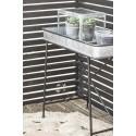 Table basse avec rebord en zinc campagne chic IB Laursen