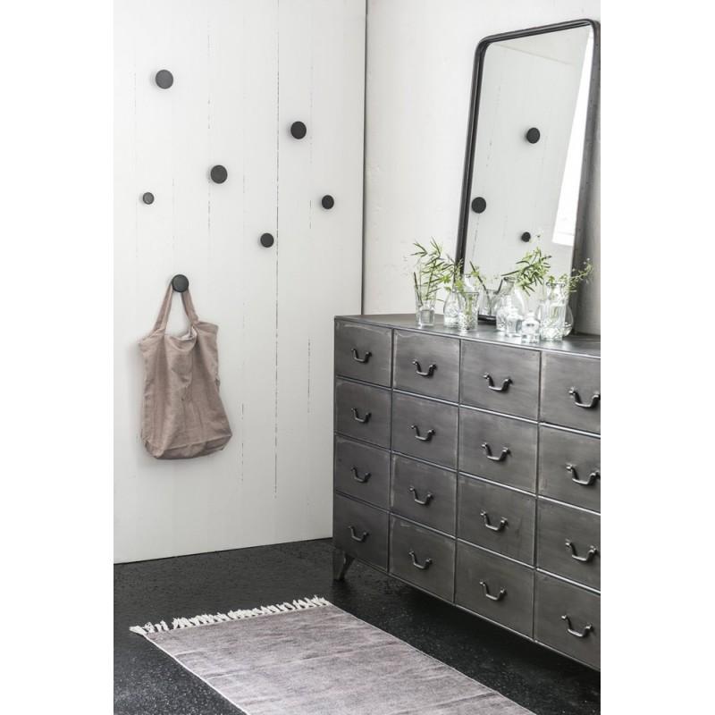 grand miroir metal noir campagne chic ib laursen brooklyn 3152 25. Black Bedroom Furniture Sets. Home Design Ideas