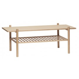 hubsch table basse rectangulaire double plateau bois
