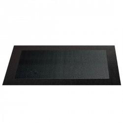 Set table brun bordé asa