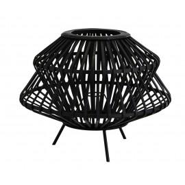 madam stoltz abat jour pour lampe de table bambou tresse noir