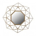 Miroir géométrique métal dore Versa