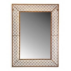 Miroir oriental metal dore decoratif versa