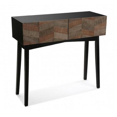 table console contemporaine noire bois versa