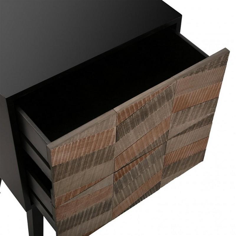 table de chevet contemporaine noire bois 2 tiroirs versa 21080056