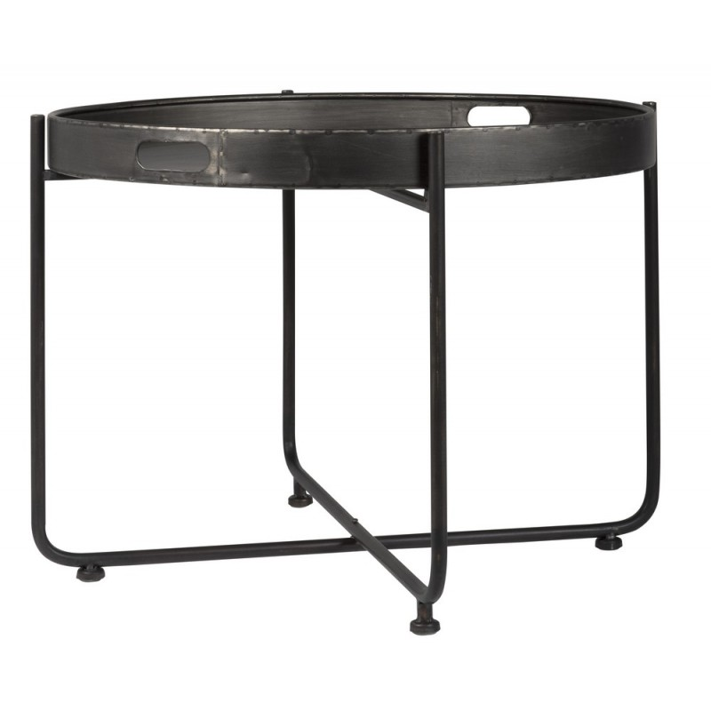 table basse ronde plateau metal vieilli campagne chic ib laursen 3148 25. Black Bedroom Furniture Sets. Home Design Ideas