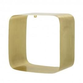 Étagère murale cube métal doré angles arrondis Bloomingville