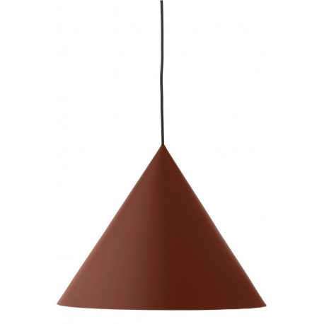 Suspension conique design rouge poudré Frandsen Benjamin 46 cm