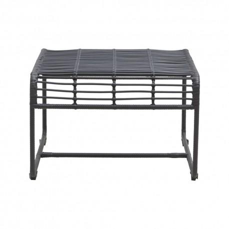 Table basse design métal et rotin noir House Doctor Oluf