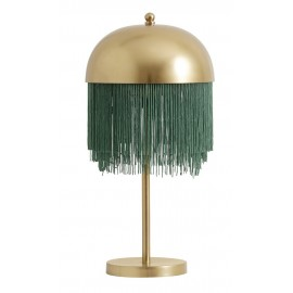 Lampe de chevet à franges métal doré Nordal 25 cm