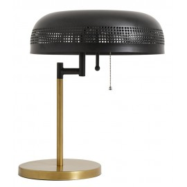 Lampe de table retro vintage metal noir et laiton nordal cool