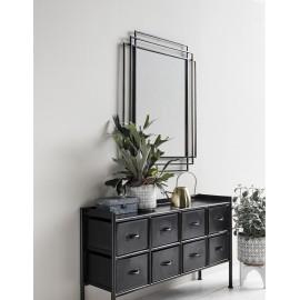 Miroir style art nouveau metal noir nordal square