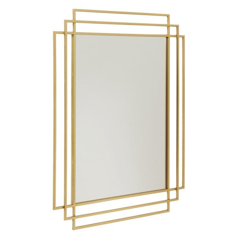 miroir art nouveau metal dore nordal square 15737. Black Bedroom Furniture Sets. Home Design Ideas